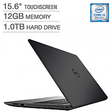 "[해외]2018 Dell Inspiron 15 5000 Flagship Premium 15.6"" Full HD Touchscreen Backlit Keyboard Laptop, Intel Core i5-8250U Quad-Core, 12GB DDR4, 1TB HDD, DVD-RW, Bluetooth 4.2, Windows 10, Black"