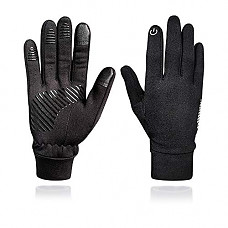 [해외]GMAYOO Winter Touchscreen Gloves, Unisex Running Sports Gloves, Lightweight Warm Liner Phone Texting Gloves, Outdoor Cycling Running Work Gloves, 4 Size Choice for Women Men