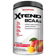 [해외]Scivation Xtend BCAA Powder, Branched Chain Amino Acids, BCAAs, Strawberry Mango, 30 Servings