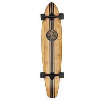 """[해외]Ten Toes Board Emporium Zed Bamboo Longboard Skateboard Cruiser, 44"""", Black Pipeline"""