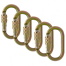 [해외]Fusion Climb Ovatti Steel Screw-Lock Oval-Shaped Carabiner 5-Pack