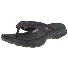 [해외]Skechers Performance Womens Go Walk Pizazz Flip Flop,Black,7 M US