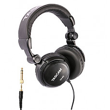 [해외]Tascam TH-03 Studio Headphones – Closed Back, Padded, Adjustable Pro Audio Headset with Gold Tip 1/8 inch to 1/4 inch Adaptor