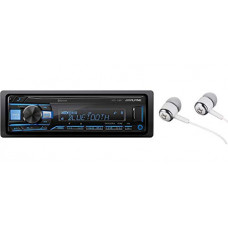 [해외]Alpine UTE-73BT In-Dash Single DIN MP3 AM/FM Receiver with Dual USB, Front Auxiliary, iPhone and Pandora Internet Radio, Variable Color Illumination, Digital Media Receiver/FREE NUTEK EARBUDS