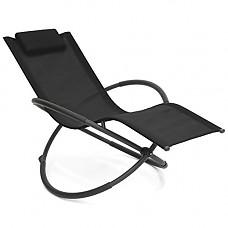 [해외]Best Choice Products Folding Orbital Zero Gravity Lounge Chair w/Removable Pillow (Black)