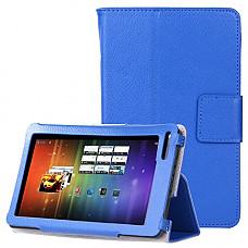 [해외]쿠로코 Slim Classic Flip PU Leather Folio Case for RCA Voyager II 7 / RCA Voyager 7 (2016, 2017) / RCA 7 Voyager Pro Tablet (Blue)