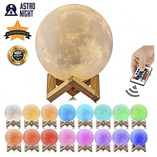 [해외]Astro-Night Moon Lamp, 3D Printed 16 Color LED Moon Night Light, USB Recharge, Remote Control & Touch Sensor, Adjustable Brightness(5.9 INCH) for Babies/Children Best Gift for Friends & Admirers