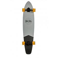 """[해외]Ten Toes Board Emporium Zed Bamboo Longboard Skateboard Cruiser, 44"""", Pewter Pointe"""