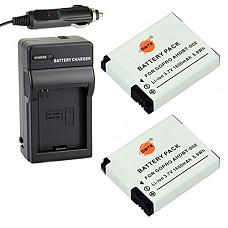 [해외]DSTE 2x AHDBT-002 배터리 + DC121 Travel and Car Charger Adapter for 고프로 Hero1 Hero2