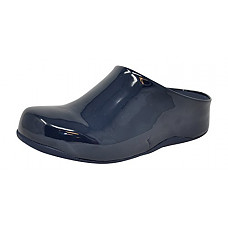 [해외]핏플랍 Womens Shuv Patent Mule (10 B(M) US, Midnight Navy)