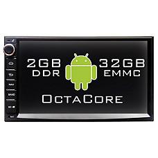 """[해외]2DIN Universal/OctaCore/2G RAM/32G Storage/7"""" HD LCD - Android Head Unit Gen3.2"""