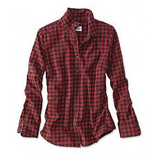 [해외]오비스 Womens Tech Check Flannel, Cardinal, Medium