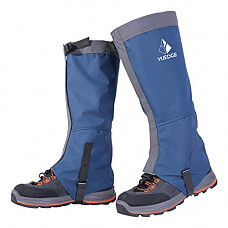 [해외]YUEDGE 방수 Snow Boot Gaiters 600D Anti-Tear Oxford Fabric for Outdoor Hiking Walking Hunting Climbing Trimming Grass(Blue)