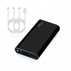 [해외]98Wh PDE 2 P26B 26800mAh Universal Laptop PD USB-C Power Bank External 배터리 Portable Charger