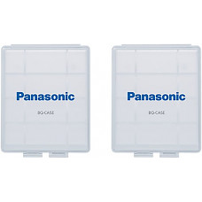 [해외]Panasonic BQ-CASE2SA 배터리 Storage Cases with 4AA or 5AAA 배터리 Capacity, 2 Pack