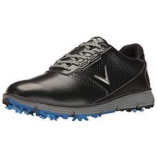 [해외]Callaway Mens Balboa TRX Golf Shoe, Black/Grey, 12 2E US