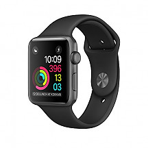 [해외]애플 Series 2 Watch for iPhone - 42mm Space Gray Aluminum Case with Black Sport Band