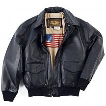 [해외]Landing 남성 항공 잠바/재켓 Leathers Mens Air Force A-2 Leather Flight Bomber Jacket (색상 : Black)