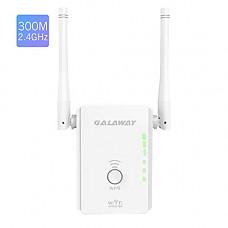 [해외]WiFi Range Extender, GALAWAY 300Mbps WiFi Repeater External Antennas Signal Amplifier Booster 360 Degree WiFi Coverage