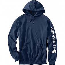 칼하트 미드웨이트 슬리브 로고 후드티 Carhartt Men's Midweight Sleeve Logo Hooded Sweatshirt (Regular and Big & Tall Sizes)