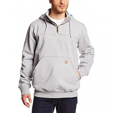 칼하트 레인디펜더 후드티 Carhartt Men's Rain Defender Paxton Heavyweight Hooded Sweatshirt - Heather Gray