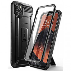 SUPCASE 유니콘 아이폰 11프로 케이스 Unicorn Beetle Pro Series Case Designed for iPhone 11 Pro 5.8 Inch 2019, Built-In Screen Protector Full-Body Rugged Holster Case (Black)