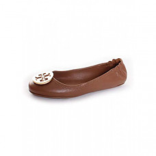 [해외] 토리버치 여성 클로즈드 토우 Tory Burch Womens Minnie Closed Toe Slide Flats - Royal Tan / Gold