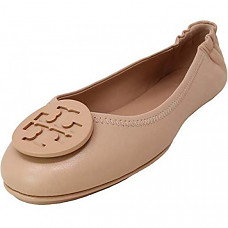 [해외] 토리버치 여성 클로즈드 토우 Tory Burch Womens Minnie Closed Toe Slide Flats - Sand