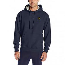 [해외] 챔피온 후드티 Champion Men's Powerblend Fleece Pullover Hoodie - Navy/Team Gold Embroidered C Logo