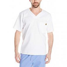[해외] 칼하트 스크럽 Carhartt Men's Ripstop Utility Scrub Top - White