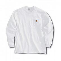 [해외] 칼하트 K126 롱슬리브 티셔츠 Carhartt Men's Workwear Jersey Pocket Long-Sleeve Shirt K126 (Regular and Big & Tall Sizes) - White