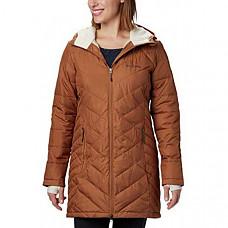 [해외] 콜롬비아 여성 롱후드 자켓 Columbia Women's Heavenly Long Hooded Jacket - Camel Brown