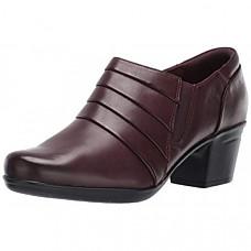 [해외] 클락스 여성 가이드 펌프 CLARKS Women's Emslie Guide Pump - Burgundy Leather