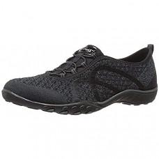 [해외] 스케쳐스 여성 스포츠 패션 스니커즈 Skechers Sport Women's Breathe Easy Fortune Fashion Sneaker - Black Knit