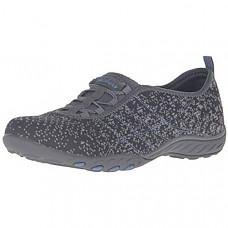 [해외] 스케쳐스 여성 스포츠 패션 스니커즈 Skechers Sport Women's Breathe Easy Fortune Fashion Sneaker - Charcoal/Gray Mesh/Periwinkle Trim