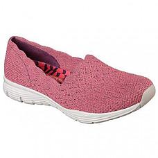 [해외] 스케쳐스 여성 클래식 로퍼 Skechers Women's Seager-Stat-Scalloped Collar, Engineered Skech-Knit Slip-on-Classic Fit Loafer - Red