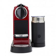 [해외] 네스프레소 에스프레소 커피머신 Nespresso C122-US-CR-NE Citiz & Milk Espresso Machine, Red