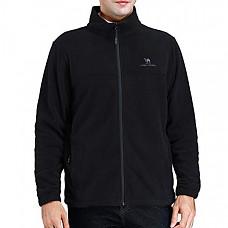 [해외] 카멜 크라운 남성 플리스 자켓 CAMEL CROWN Men Full Zip Fleece Jackets with Pockets Soft Polar Fleece Coat Jacket for Fall Winter Outdoor - Black