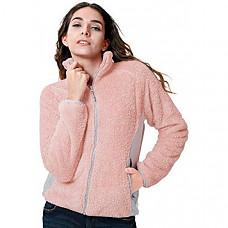 [해외] 카멜 크라운 여성 플리스 자켓 CAMEL CROWN Full Zip Fleece Jacket Women Polar Fuzzy Warm Fluffy Furry Sherpa Fleece Jacket Fall Spring