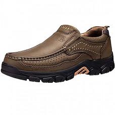 [해외] 카멜 크라운 남성 로퍼 CAMEL CROWN Mens Loafers Slip-On Loafer Leather Casual Walking Shoes Comfortable for Work Office Dress Outdoor - Khaki4050