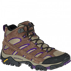 [해외] 머럴 여성 Moab 2 하이킹 부츠 Merrell Women's Moab 2 Vent Mid Hiking Boot - Bracken/Purple