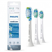 [해외] 필립스 소닉케어 교체용 칫솔 헤드 Philips Sonicare Toothbrush Head Variety Pack – C3 Premium Plaque Control & C2 Optimal Plaque Control, 3 Pack, white, HX9023/69