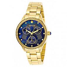 [해외] 인빅타 여성 와일드플라워 쿼츠 시계 Invicta Women's Wildflower Quartz Watch with Stainless Steel Strap, Gold, 22 (Model: 29095)