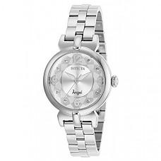 [해외] 인빅타 여성 엔젤 쿼츠 시계 Invicta Women's Angel Quartz Watch with Stainless Steel Strap, Silver, 14 (Model: 29145)