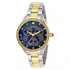 [해외] 인빅타 여성 와일드플라워 쿼츠 Invicta Women's Wildflower Quartz Watch with Stainless Steel Strap, Two Tone, 22 (Model: 29101)