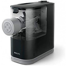 [해외] 필립스 파스타/국수 제조기 HR2371/05 Philips Compact Pasta and Noodle Maker with 3 Interchangeable Pasta Shape Plates - Black