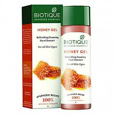 [해외] 바이오티크 허니 폼 클린져 Biotique HONEY Gel Refreshing Foaming face Cleanser -120ml/4.05Fl.Oz. I Refreshing Foaming Face Cleanser For All Skin Type