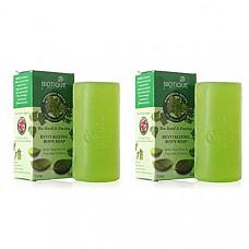 [해외] 바이오티크 바디 비누 Biotique Bio Basil & Parsley Revitalizing Body Soap 150 Gm (PACK OF 2) ( Package may vary )