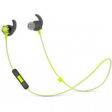 [해외] JBL Reflect Mini 2.0, 무선 스포츠 이어폰 in-Ear Wireless Sport Headphone with 3-Button Mic/Remote - Green, One Size