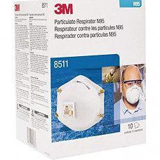 [해외] 3M 마스크 8511 Particulate Respirators, N95, Cool-flow valve, Box of 10 (Packaging May Vary)